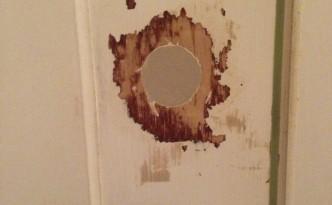 Door hole filled